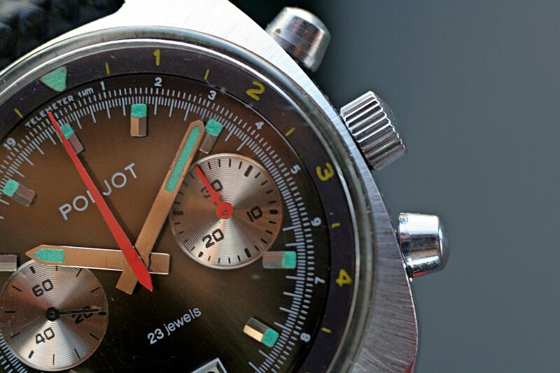 Poljot chronograf czarny 9m8