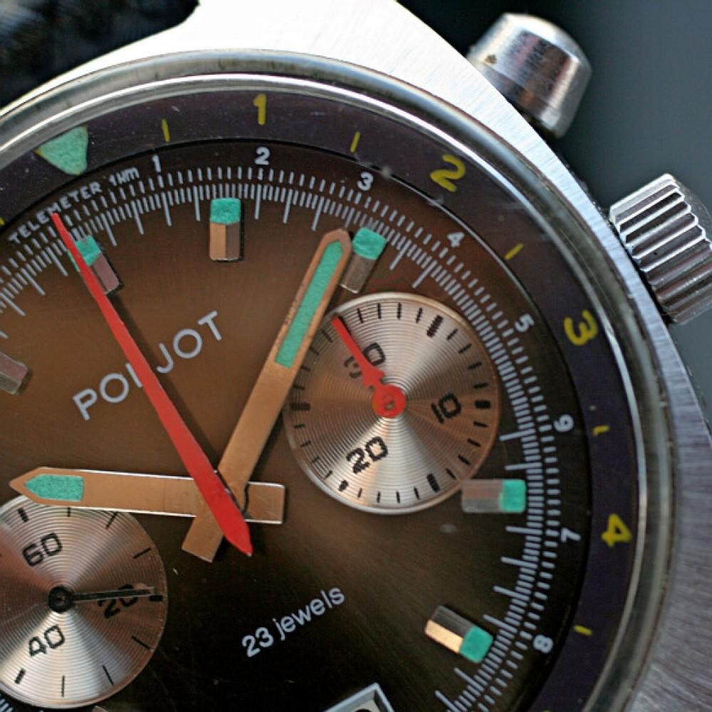Poljot chronograf czarny